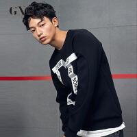 【GXG过年不打烊】GXG男装 春季男士韩版时尚都市青年流行修身休闲潮流圆领卫衣男