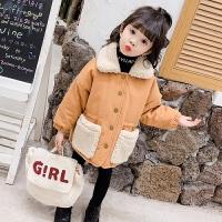 女童秋冬款外套洋气女宝宝棉衣儿童夹棉童装