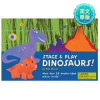 Dinosaurs!游戏舞台:恐龙 英文原版 儿童趣味游戏认知读物