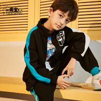 【2件3折:164.7元】小虎宝儿儿童加绒套装男童韩版洋气2021春秋新款