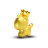 先恩尼3D硬足金 黄金吊坠 足金项坠马年系列 12生肖吊坠 XZJA121227
