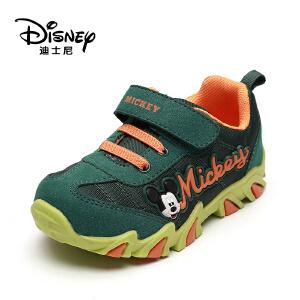 鞋柜/迪士尼秋儿童单鞋魔术贴透气男童休闲运动鞋1