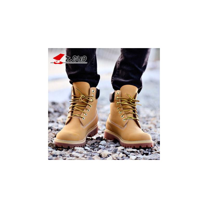 走索马丁靴男靴子中帮白色英伦大黄靴加绒保暖雪地棉鞋军靴男鞋 拒绝低价次品,拒绝劣质仿品,走索一路相伴