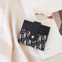真皮对折钱包女士新款2020时尚精致简约小巧短款大容量钱卡包一体