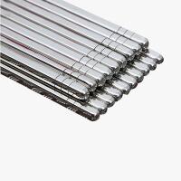 当当优品 方头不锈钢筷子 10双装