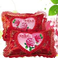 5D印花十字绣抱枕单人枕结婚枕头套一对 客厅家居枕套新款印花