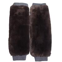 羊毛绒护膝保暖老寒腿秋男女中老年冬季防寒双层加长加厚皮毛一体 深灰色 獭兔绒护腿145元