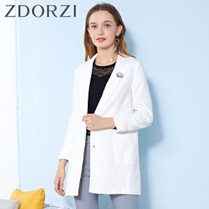 zdorzi卓多姿时尚经典西装外套中长外套女634222