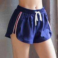 专业运动短裤女双层跑步速干瑜伽马拉松三分裤健身防走光宽松热裤