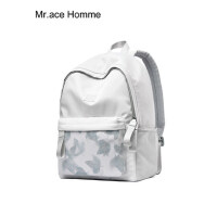 mracehomme双肩包女纯色高中学生书包韩版校园背包简约森系旅行包