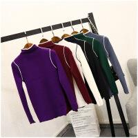冬季修身高领打底衫韩版长袖保暖套头针织衫女20977