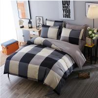 床上用品简约条纹四件套1.5/1.8米单双人学生宿舍1.2三件套件卡通