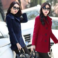 毛呢外套女短款2018春秋季新款韩版30-40岁中年女装妈妈呢子大衣