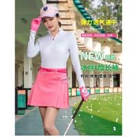 高尔夫服装衣服女装套装长袖冰丝防晒上衣短防走光裙子