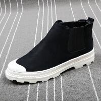 时尚潮男马丁靴厚底增高短靴皮靴韩版潮流高帮板鞋青年百搭休闲鞋