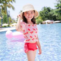 女童泳衣儿童比基尼分体小中大童游泳衣保守可爱泳装三件套装