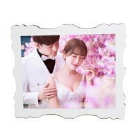 ��意影�墙Y婚照婚�相水晶�[�_��D定制包打印照片加相框12寸情�H 12寸丹尼��25*30cm水晶面