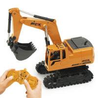 遥控合金钩机挖掘挖推土机超大型工程摇控充电动儿童男孩玩具汽车