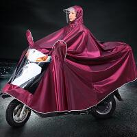 摩托车雨衣单人双人男女成人电动自行车骑行加大加厚防水雨披