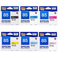爱普生原装 EPSON 85墨盒 T0851黑色 T0852青色 T0853洋红色 T0854黄色 T0855浅青色