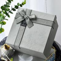2019新款定制�Y物盒�Y品盒正方形回�Y�Y盒�n版小清新生日抖音同款零食�Y盒包�b盒大�