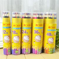 小鱼儿 3104彩色铅笔大中小学生男女生儿童幼儿学习办公美术涂色绘画文具用品桶装绘画笔秘密花园彩铅笔36色当当自营