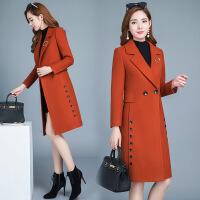 041208375秋冬装新款韩版修身中长款女士毛呢外套中年收腰妮子呢子大衣