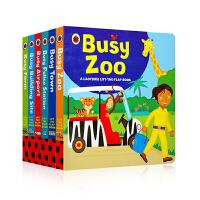 小瓢虫系列 Busy系列6册A Ladybird Lift-the-flap Book 儿童机关操作活动纸板书 低幼英