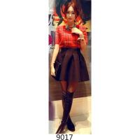 2017新款太空棉黑色半身裙秋冬a字裙高腰女短裙蓬蓬裙百褶伞裙子 X