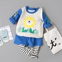 童装男宝宝春装套装0-1-2-3岁男童春秋衣服婴幼儿外出服4