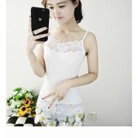 莫代尔蕾丝吊带背心女打底短款韩版外穿内搭性感修身百搭潮 均码
