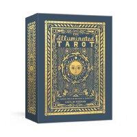 现货 彩色塔罗牌 占卜游戏 53张卡片 英文原版 The Illuminated Tarot 53 Cards for