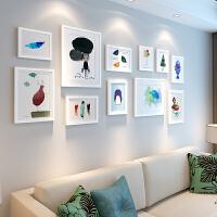 照片墙相框墙客厅现代简约相片墙餐厅装饰实木相框挂墙