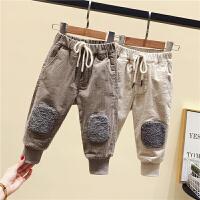 男童棉裤灯芯绒裤子小童冬装儿童休闲大PP裤婴儿洋气