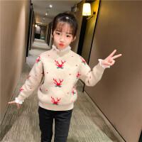 女童毛衣秋冬洋气女孩针织儿童套头打底衫
