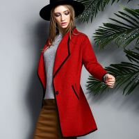 秋冬新款羊绒双面羊绒大衣女西装领风衣毛呢纯色外套韩版呢子大衣