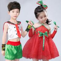 六一儿童节演出服蓬蓬裙幼儿园舞蹈服公主纱裙环保表演服装时装秀