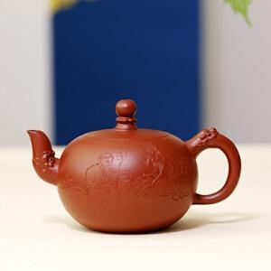宜兴名家紫砂壶 一粒珠 高级工艺美术师 周小明 朱泥 315cc