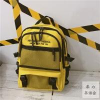 日系原宿风书包ulzzang高中学生街拍多层次大容量双肩包男女背包