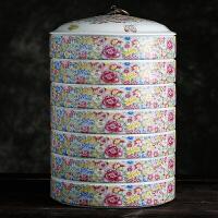 陶瓷茶叶罐大号可叠加普洱茶叶白茶饼罐放七子饼存茶盒醒茶罐