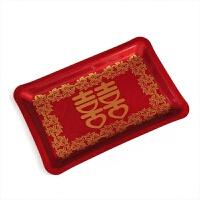 【结婚果盘】喜庆亚克力塑料果盘婚庆用品大红色端茶托盘大号客厅