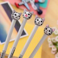 韩国文具 可爱猫咪造型创意中性笔 0.5mm黑色水笔 签字笔学生用品