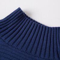 韩版时尚女士宽松条纹袖羊绒衫 秋冬打底绒衣针织衫 毛衣外套衫