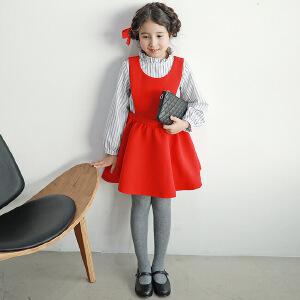 中国红纯色简洁A摆连衣裙