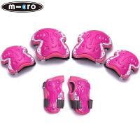 儿童荧光厚款溜冰鞋护具六件套轮滑护具滑板旱冰护具