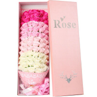 香皂花束礼盒 情人节礼物送女友创意玫瑰花束男生日礼品实用表白