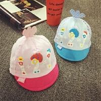 新生儿帽子0-3个月春秋鸭舌帽婴儿帽宝宝帽子男女儿童棒球帽夏天