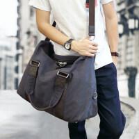 男士旅行包帆布大容量手提短途出差行李袋休闲健身运动单肩斜挎包 支持礼品卡支付