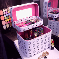 化妆品收纳包双层大容量化妆箱多功能化妆包手提大号洗漱包女