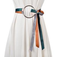新品时尚撞色女士腰带 甜美大圆环打结裤带女 百搭裙带装饰配带女